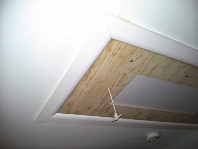 Since My Attic Has Two Gable Windows That Allow Lots Of Sunlight I Cut A Rectangle Through The Face Pull Down Stairs