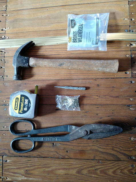 Tools needed to install weatherstripping