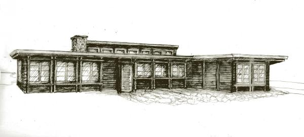 sketch of renovations for atomic ranch