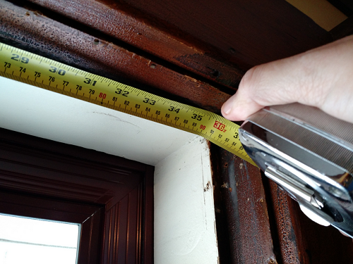 Measuring a door frame