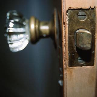 ... Glass Door Knob, Old Door