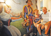 A traditional Bavarian mural decorates the basement of a 1908 American Foursquare in Denver. Happy Oktoberfest! Photo courtesy of the Denver Post