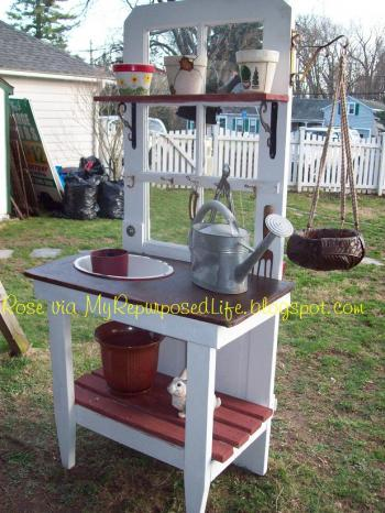 ... your great old doors to the great outdoors fashion a potting bench. Brought to you by Gail at My Repurposed Life. The woman is a maven of making do. & Repurposing old doors | Old House Web Blog