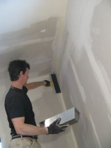 One secret to successful drywall finishing is not to expect--or use--too much compound at a time. Thin coats are key.