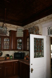 The kitchen's copper ceiling is one of many interior, historically acurate details that Joni Eastley recreated.