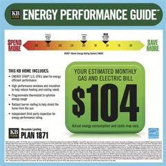 KB Home's Energy Sticker--photo from yahoo.com