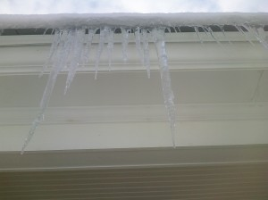icicles are often an indicator of heat loss in old houses.