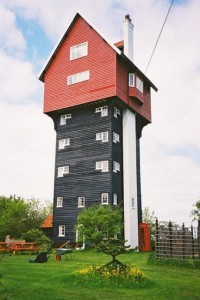 Water tower living offers great views and exercise opportunities -- photo from 1800recycle.com