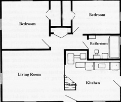 Tv House Floor Plans besides Bowie Levitt Homes additionally Cape Cod House Floor Plans From The 1950 besides Ranch Home Plans First Floor Plan Of Ranch moreover One Hyde Park Floor Plan. on original levittown house floor plans