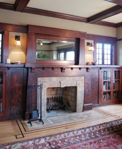 Box Beam Ceiling in an old Craftsman -- photo courtesy of craftsmandesign.com