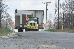Old Texas house moved -- photo courtesy of kxan.com