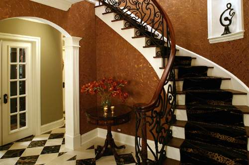 foyer stairway after renovation
