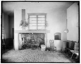 Mt. Vernon kitchen fireplace