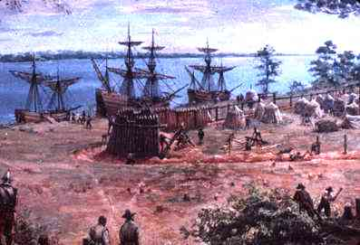 Ships at Jamestown
