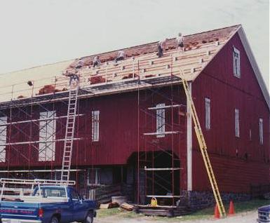 Replacing An Historic Wooden Barn Roof Old House Web