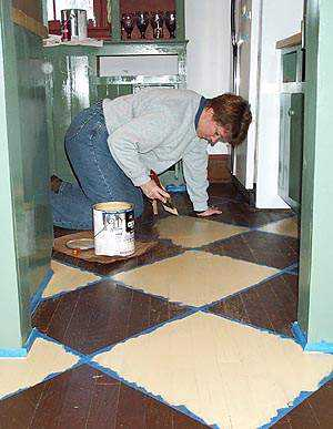 Floor Painting Ideas ideas for painting wood floors | old house web