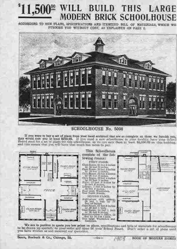 Sears house kit plans home design and style for Old school house plans