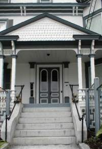 The Front Doors Of These Two Houses Are Painted In A Two Color Scheme, With  Dramatically Different Results. The Victorian Cottage At Left Is Warm And  ...
