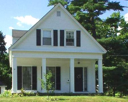 more modest than many greek revival homes this home is unusual in its one and a half story construction that incorporates many features of the larger - Greek Revival Cottage