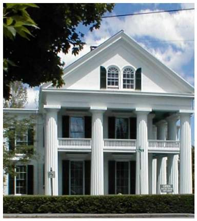 though located in northern new england the 1853 nott house has the feeling of a southern greek revival mansion with its second story piazza - Greek Revival Cottage