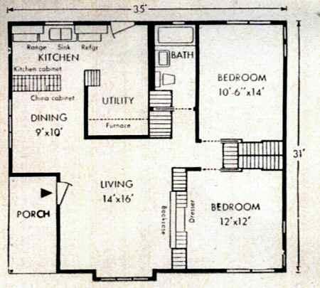 Lustron Homes Part 1 – Wartime House Floor Plans