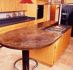 Countertops artistic durable concrete countertops old for How durable are concrete countertops