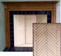 Fireplaces Herringbone Brick Old House Web