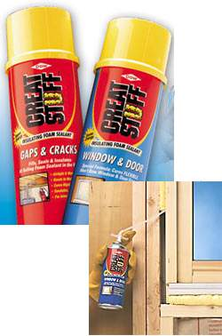 Caulk: Great Stuff insulating foam | Old House Web
