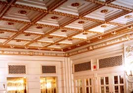 restored coffered ceiling