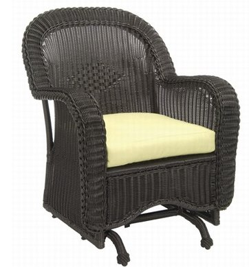 This Single Glider From Summer Classics Looks Like An Antique But Is Woven  In Weatherproof Vinyl On A Welded Aluminum Frame. Like Traditional Wicker  ...