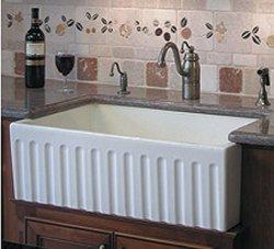 fireclay farmhouse sink. Kitchen Sinks: Reversible Fireclay Farmhouse Sink