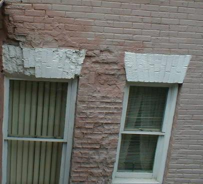 damaged brick