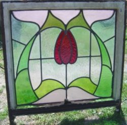 Stained Glass: Art Nouveau Tulip