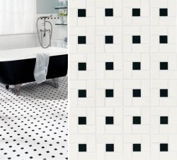 black and white tile floor. Floor Tile  Black and White Old House Web