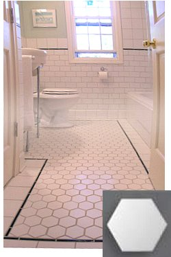 Hex Tiles Vintage Look Old House Web
