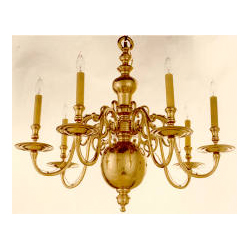 Brass Chandelier Independence Hall Inspired Old House Web