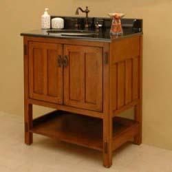 30 american craftsman vanity take it for granite old house web - Mission style bathroom vanity plans ...