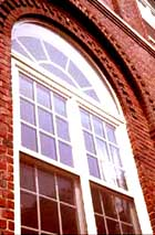 newly painted historic wood window