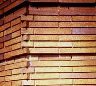 Home page logo:  Close-up of brick wall, showing extraordinary craftsmanship. Photo: NPS files.