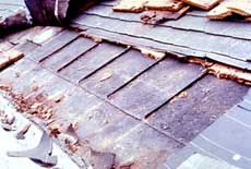 removal of modern shingle roof