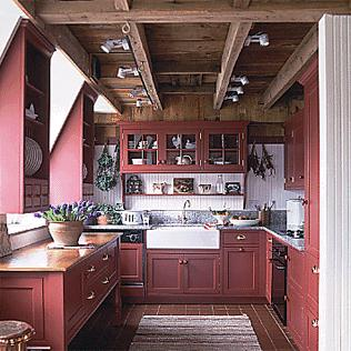 Barn kitchen old house web for Barn style kitchen cabinets