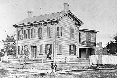 The Lincoln Home in the late 1850s