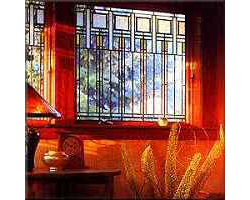 Windows Colonnade Art Glass Old House Web