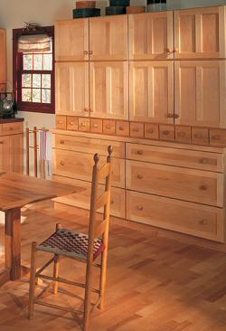 Kitchen cabinets shaker wall old house web for Full wall kitchen units