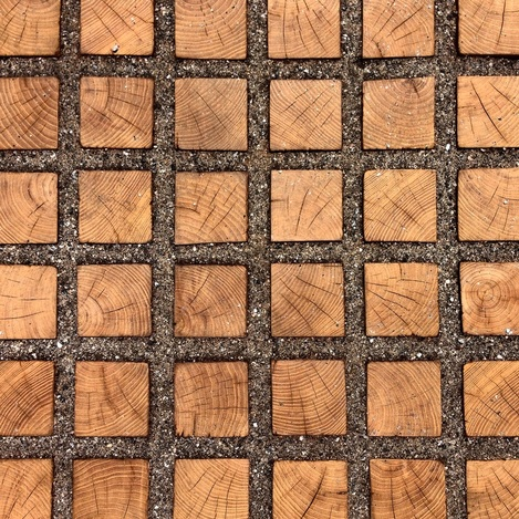 Black Locust wood pavers for driveway