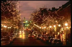 Old Town Alexandria, VA Decorated for the Holidays--photo from Oitgn.com