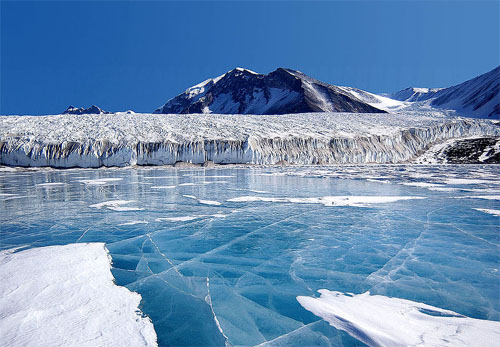 The continent of Antarctica has been losing more than 100 cubic kilometers (24 cubic miles) of ice per year since 2002.
