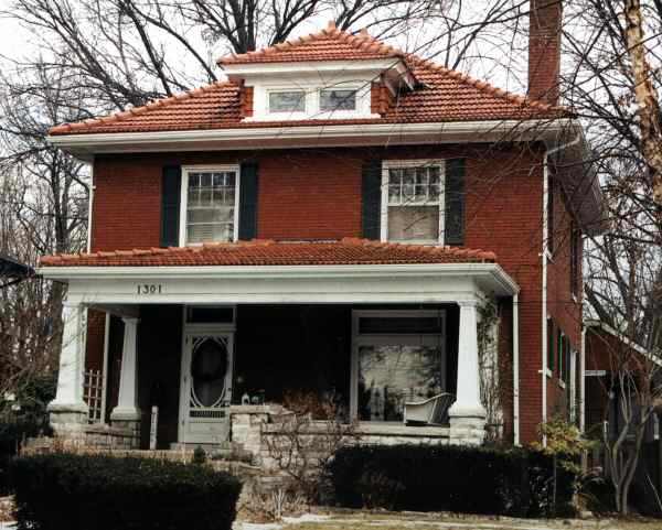 Simple American Foursquare Classic Home - clayroof  You Should Have_833943.jpg