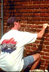 Repointing an old brick wall