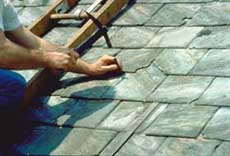 Home page logo: Ongong slate roof repair. Photo: Jeffrey S. Levine